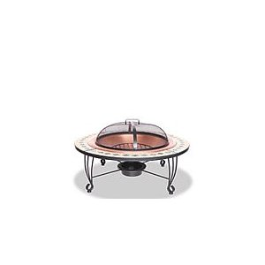"UniFlame 45"" Outdoor Fireplace with Ceramic Tile"