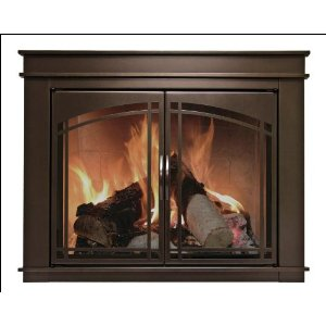 Pleasant Hearth Fenwick Fireplace Glass Door