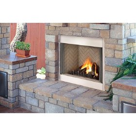 Lennox 42 Inch Elite Stainless Outdoor Fireplace
