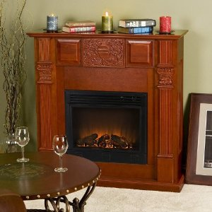 Martin Electric Fireplace - Mahogany