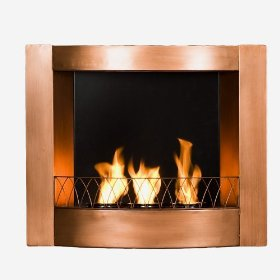 SEI Copper Wall Mount Gel Fuel Fireplace